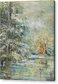 In The Snowy Silence Acrylic Print by Mary Wolf