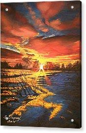 In The Still Of Dawn-2 Acrylic Print