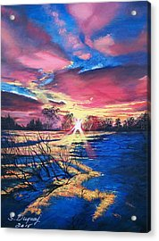 In The Still Of Dawn  Acrylic Print by Sharon Duguay