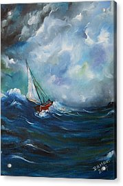 In The Storm Acrylic Print by Dorothy Maier