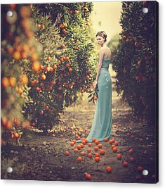 In The Tangerine Garden Acrylic Print by Anka Zhuravleva