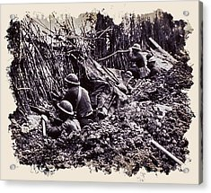 In The Trenches Acrylic Print by Daniel Hagerman