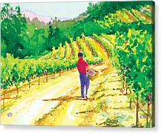 In The Vineyard Acrylic Print by Ray Cole
