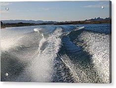 In The Wake Of Lake Havasu Az  Acrylic Print