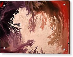 In The World Of Reverie Dark Abstract Art By Kredart Acrylic Print by Serg Wiaderny