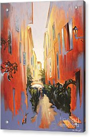 In Town Of Saint Tropez Acrylic Print