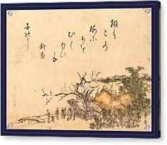 Inakaya No Ume, Plum Tree Of A Country Farmhouse Acrylic Print