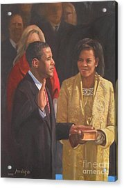 Inauguration Of Barack Obama Acrylic Print