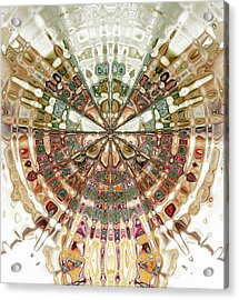 Incan Abstraction Acrylic Print by Amanda Moore