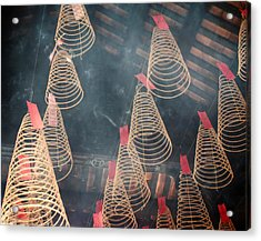 Acrylic Print featuring the photograph Incense Coils by Lucinda Walter