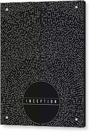 Acrylic Print featuring the digital art Inception Movie Poster by Mike Taylor