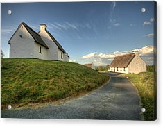 Inchiquin Cottages Acrylic Print by John Quinn