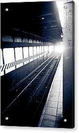 Acrylic Print featuring the photograph Incoming At The Subway - New York City by Peta Thames