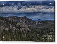 Incoming Storm Over The Black Hills Of South Dakota Acrylic Print