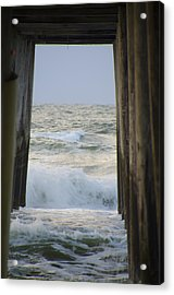 Incoming Tide At 32nd Street Pier Avalon New Jersey Acrylic Print