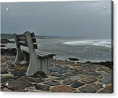 Incoming Tide Acrylic Print by Joy Bradley