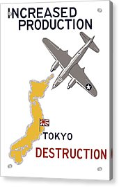 Increased Production - Tokyo Destruction Acrylic Print by War Is Hell Store