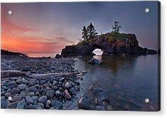 Hollow Rocks, North Shore Mn Acrylic Print