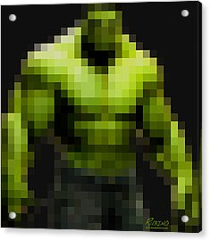 Incredible Hulk Acrylic Print by Tony Rubino