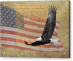 Independence Acrylic Print by Angie Vogel