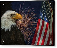 Independence Day Acrylic Print by Angie Vogel