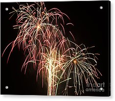 Independence Day Fireworks Acrylic Print by Philip Pound