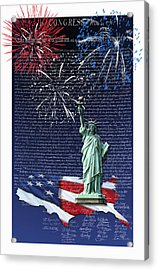 Acrylic Print featuring the digital art Independence Day by Kathleen Holley
