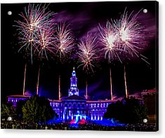 Independence Eve In Denver Colorado Acrylic Print by Teri Virbickis