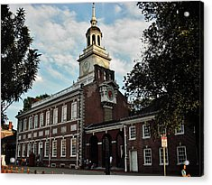 Acrylic Print featuring the photograph Independence Hall by Ed Sweeney