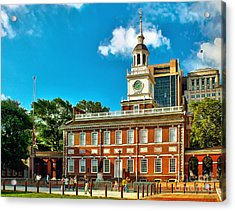 Independence Hall Acrylic Print by Nick Zelinsky