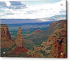 Independence Monument In Colorado National Monument Near Grand Junction-colorado Acrylic Print by Ruth Hager