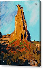 Independence Rock Acrylic Print by Craig Nelson