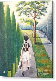 Acrylic Print featuring the painting Independent by Jane  See