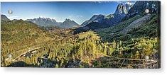 Index Mountains Panorama Acrylic Print