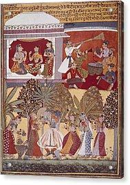 India. Calcutta. Krishnas Dance Acrylic Print
