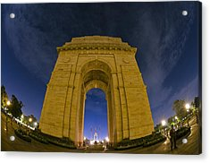 India Gate Acrylic Print by Aaron Bedell