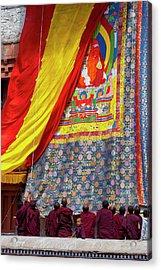 India, Jammu & Kashmir, Ladakh, Monks Acrylic Print by Ellen Clark
