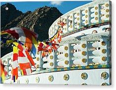 India, Ladakh, Leh, Prayer Flags Acrylic Print by Anthony Asael