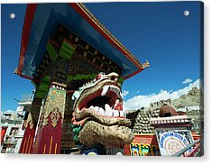 India, Ladakh, Leh, Small Colorful Acrylic Print by Anthony Asael