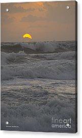 Indialantic Sunrise Acrylic Print by Tannis  Baldwin