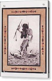 Indian Buffalo Dancer Acrylic Print by Billie Bowles