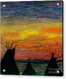 Indian Camp Acrylic Print