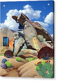 Indian Canyon Rocks Acrylic Print by Snake Jagger