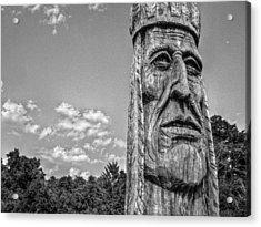 Indian Chief Charlestowne Landing Acrylic Print