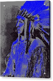 Indian Chief Acrylic Print by George Pedro