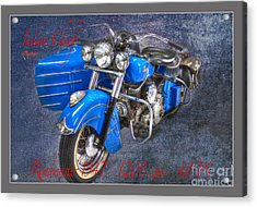 Indian Chief Motorcycle Legend Acrylic Print by Heiko Koehrer-Wagner