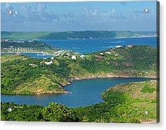 Indian Creek Point, Antigua, West Acrylic Print by Nico Tondini