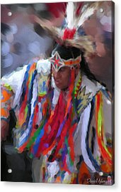 Da121 Indian Dance By Daniel Adams Acrylic Print