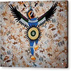 Indian Dance Acrylic Print by Linda Egland