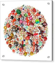 Indian Glass Beads Acrylic Print by Jim Hughes